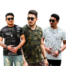 Mens store Large size Short-sleeved Printed T-shirt 2019 New Fashion Loose Summer Clothing 6XL 7XL