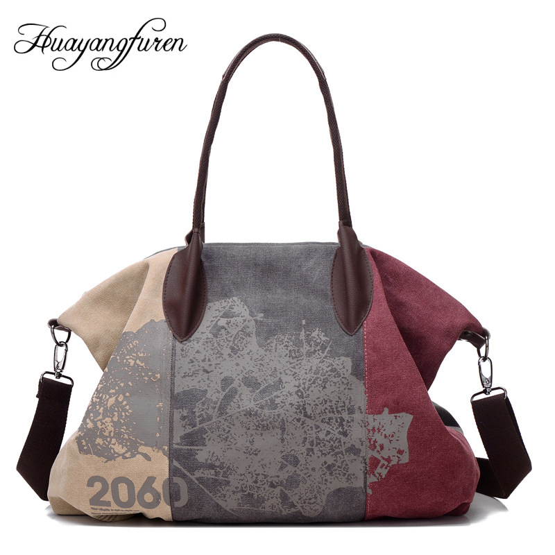 High Quality Women Shoulder Bags Canvas Women Bag Casual Women Messenger Bags Fashion Map Pattern Designer Women Crossbody Bags