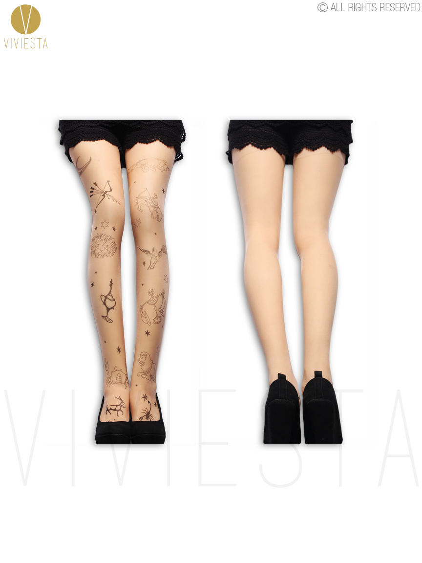 12 zodiac signs tattoo tights 20d womens libra scorpio virgo 12 zodiac signs tattoo tights 20d womens libra scorpio virgo astrological symbol pattern print sheer nude pantyhose in tights from womens clothing buycottarizona Image collections