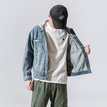 2019 Casual Mens Denim Jacket Coat Bomber Jacket Men Hip Hop Ripped Quality Cowboy Men's Jeans Jackets Hoodies Chaqueta Hombre