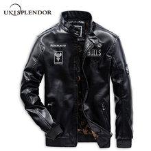2019 Cool Men Motorcycle Leather Jackets Man Casual Bomber Solid Male Brand Coats Autumn Spring Boy Streetwear YN10308
