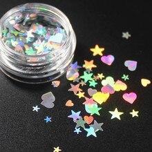 1 коробка, 9 цветов на выбор, одноцветные тени для век, тени для женщин, красота, макияж для глаз, сверкающая блестящая пудра, макияж, звезда, сердце, CHTY03