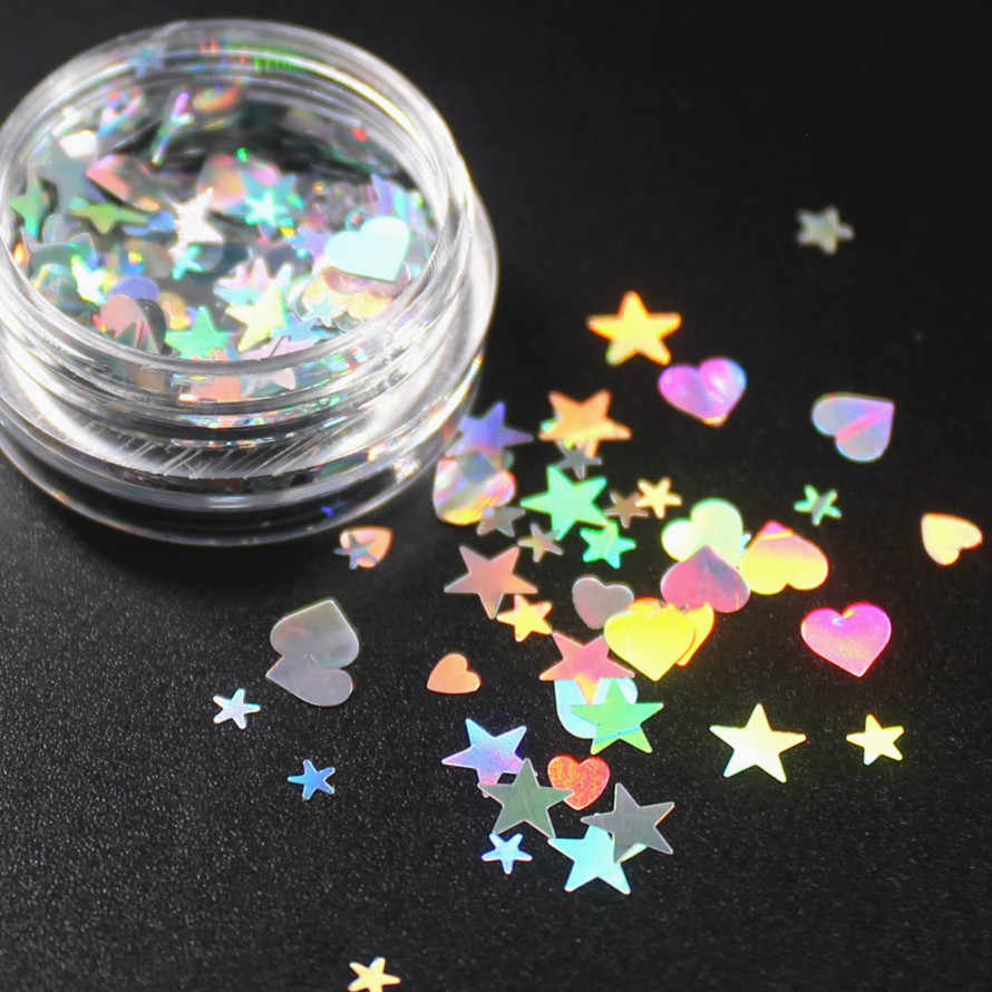 1 Doos 9 Kleuren Optioneel Monochrome Eye Powder Shadow Vrouwen Beauty Eye Make Up Shining Glitter Poeder Make-Up Ster Een hart CHTY03