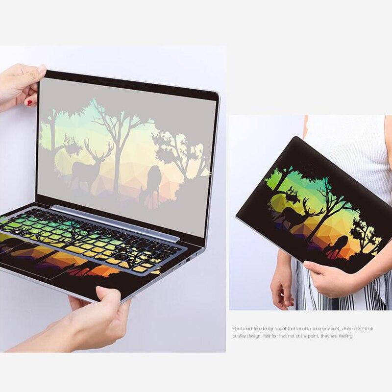 New ! 2017 Laptop StickersCover PVC Skins Waterproof ABC Sides+Keys+Key Interstice Stickers For lenovo Z360 Z370 Z380 Case