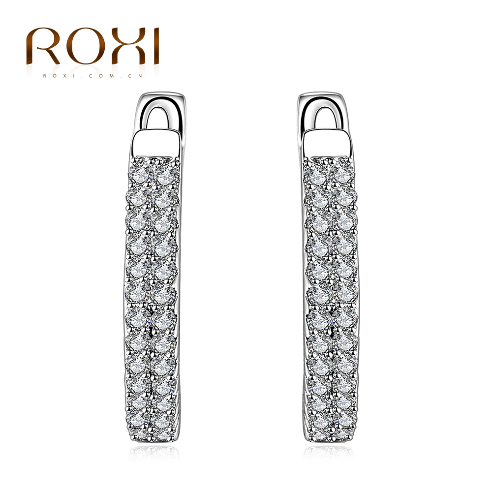 Roxi Brand Zircon Circle Earring White Color Geometry Earring For Women  Jewelry Charm Online Shopping India