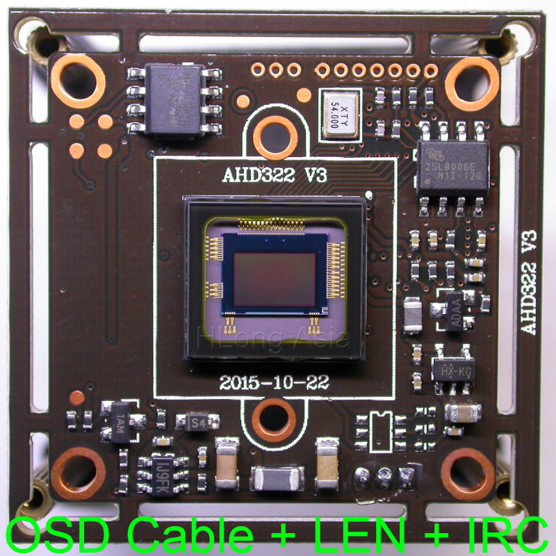 "bilder für AHD-H 1920x1080 1/2. 9 ""sony exmor cmos imx322 + nvp2441 cctv-board-kamera-modul bord + osd-kabel + irc + 2.0mp len"
