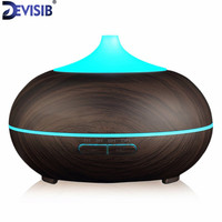 FEA Intelligence Essential Oil Diffuser Wood Grain Ultrasonic Aroma Cool Mist Humidifier 300ml For Office Bedroom