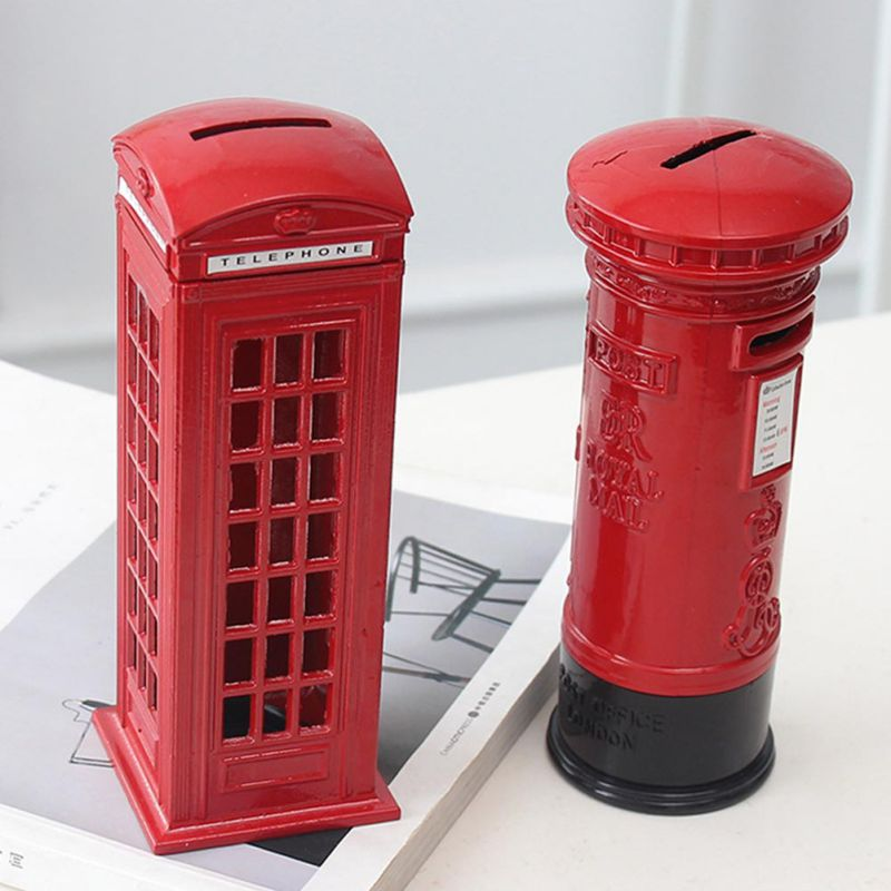 Vintage Creative London Bus Telephone Booth Model Iron Ornaments For Kids Souvenir Gift Decoration Pencil Sharpener Stationery