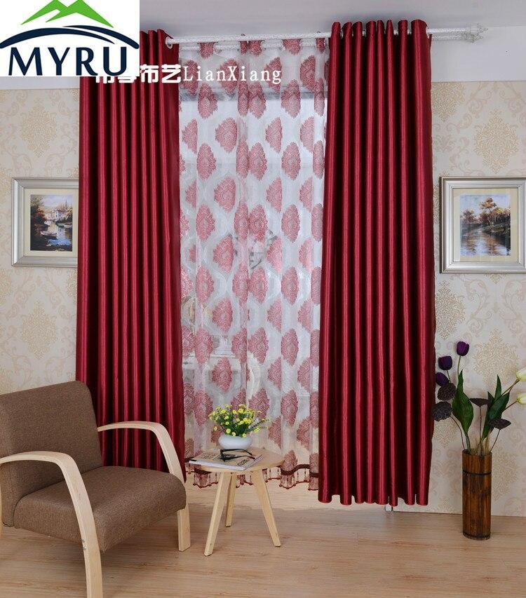 Myru europea vino rojo cortina de tela sombra en relieve - Telas para sombra ...