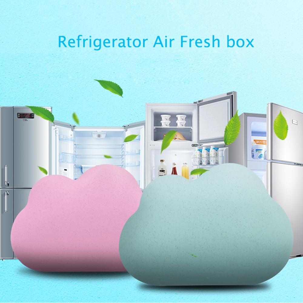 Cute Cloud Shape Fridge Refrigerator Air Fresh Box Purifier Charcoal Deodorizer Absorber Freshener Eliminate Odors Smell 3 Color