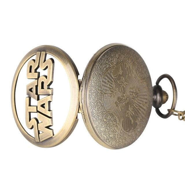 Купить модные часы звездные войны с бронзовым ожерельем кварцевые карманные картинки
