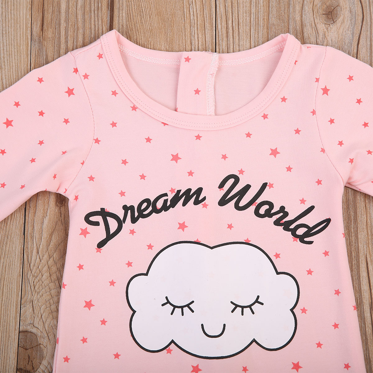 1bb52d8be Autumn Cute Cloud Newborn Baby Girls Sleepwear Half Sleeve Pink ...