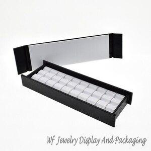 Image 4 - Superior Leather Mute With Magnet Cover  Diamond Display Tray Stone Storage Case Gem Box Jewelry Holder Gemstone Organizer
