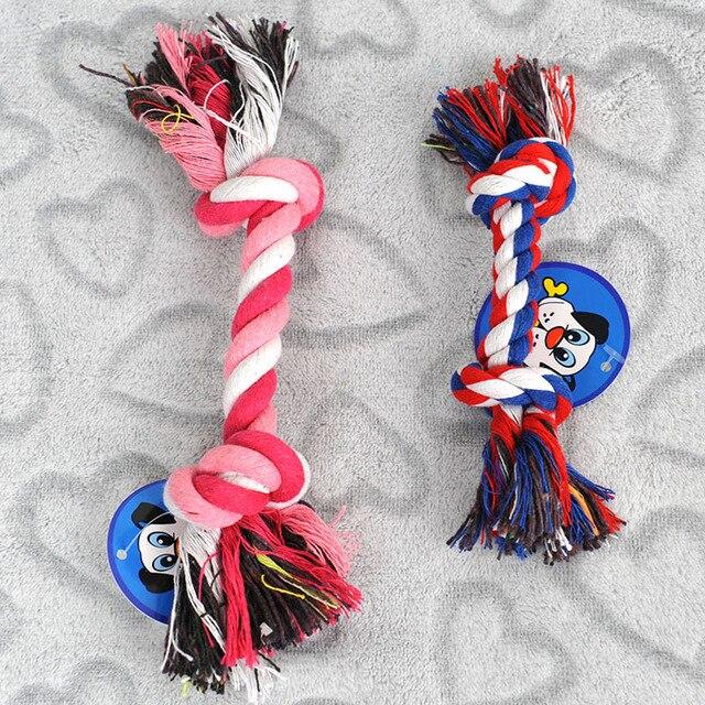 18 centimetri di Cotone Resistente Intrecciato Osso di Cane Giocattoli Corda per Dog Pet Puppy Chew Knot Toy Prodotti per animali domestici di Colore a Caso