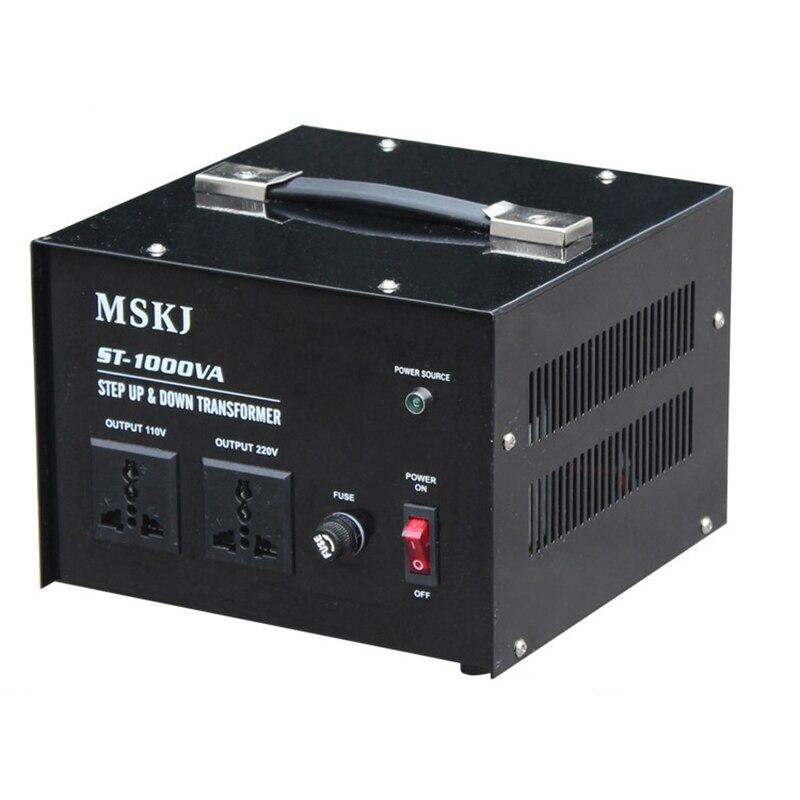 Transformateur de courant alternatif Vertical de transformateur de montée et de descente de 1000 W 110 V à 220 V ou 220 V à 110 V ST-1000VA Y