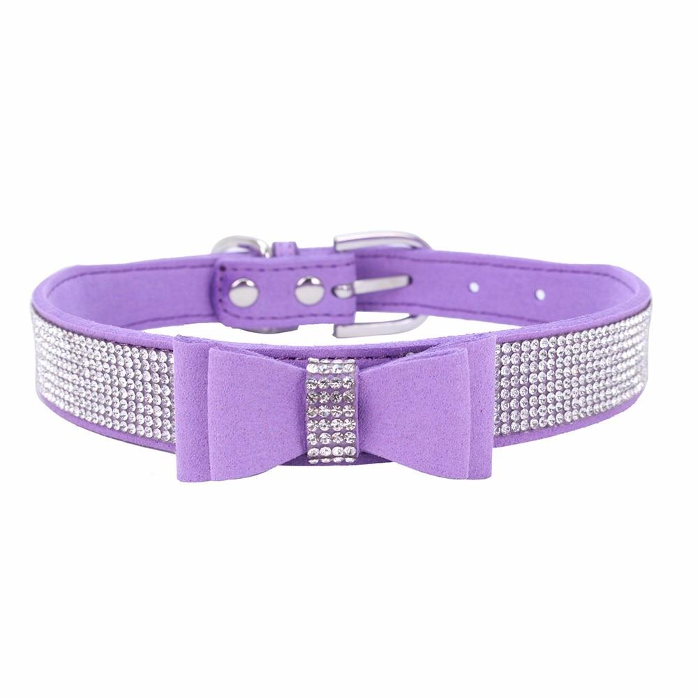 Kragen Harness Bowknot Diamant Luxus Welpen Hundeleine Für Kleine Hund Einstellbare Pet Halsbänder 18JAN22