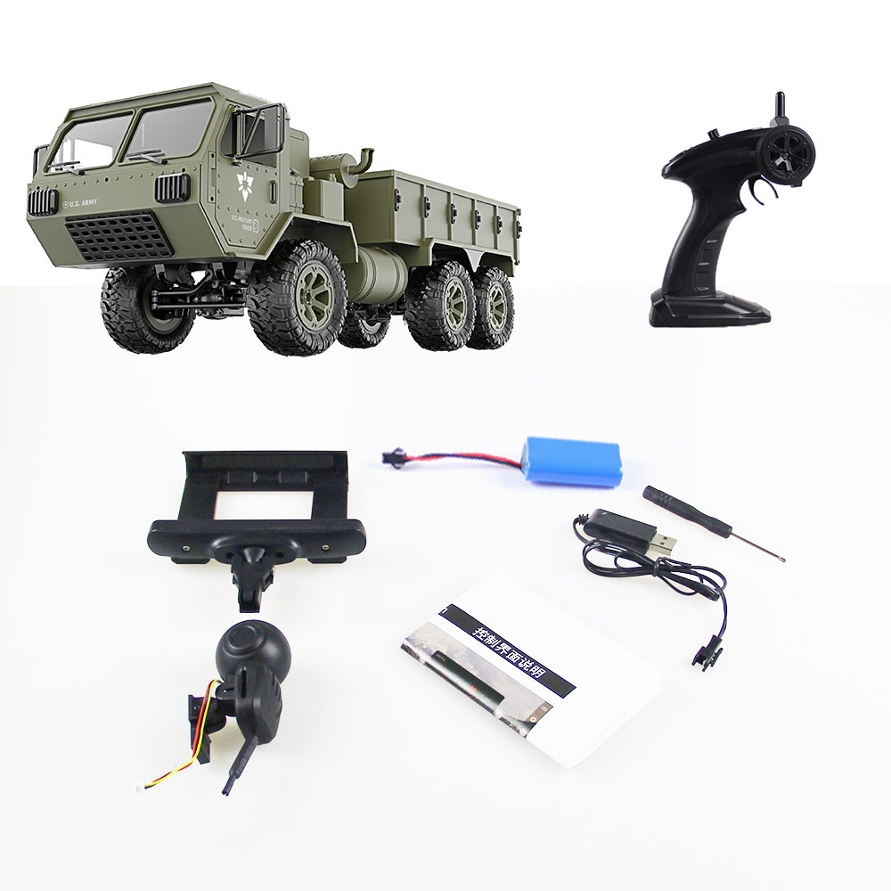 Image 4 - RC Trucks Remote Control Toys Six drive military card metal DIY modified model car 2.4G ABS/alloy army green kids children toy-in RC Trucks from Toys & Hobbies