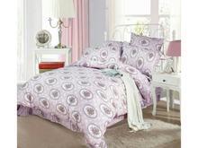 Комплект постельного белья двуспальный-евро СайлиД, A, фиолетовый, с рисунком