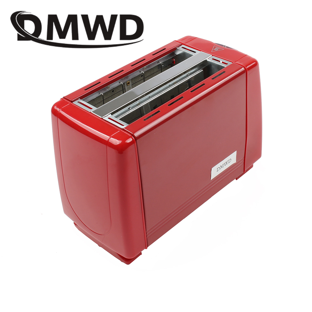 DMWD Automatic Toaster 2 Slices Toast Baking Oven Electric Spit Driver Household Mini Breakfast Machine Two Slots Bread Maker EU