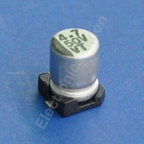 (50 шт./лот) 4.7 мкФ/50 В SMD Алюминий электролитический Конденсаторы.