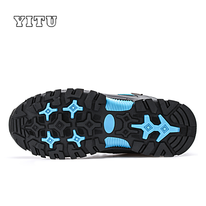 Image 4 - YITU Men Profession Hiking Shoes Waterproof Anti Skid Outdoor Trekking Shoes High Quality Climbing Sports Shoes Plus Size 39~47-in Hiking Shoes from Sports & Entertainment