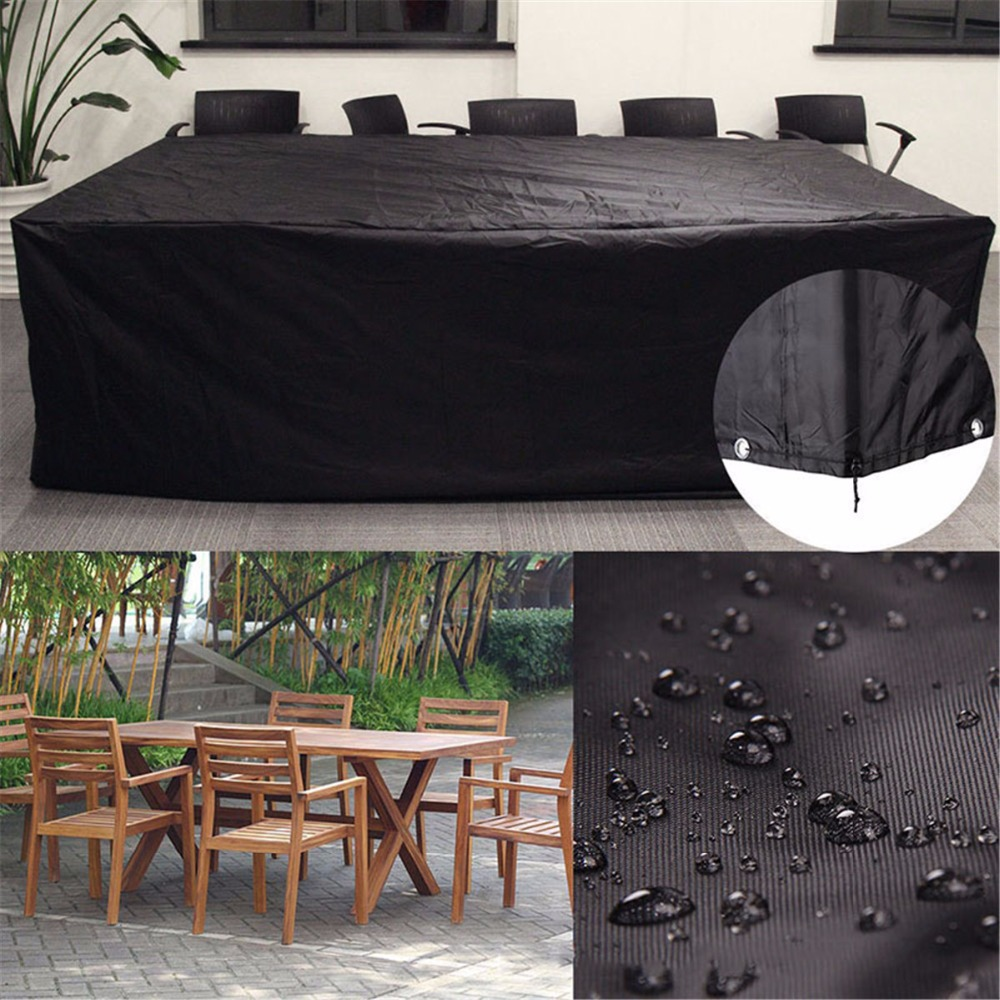Waterproof Outdoor Patio Garden Furniture Rain Snow Chair Black Covers For Table Chair Housse De Chaise Sofa Set Protection