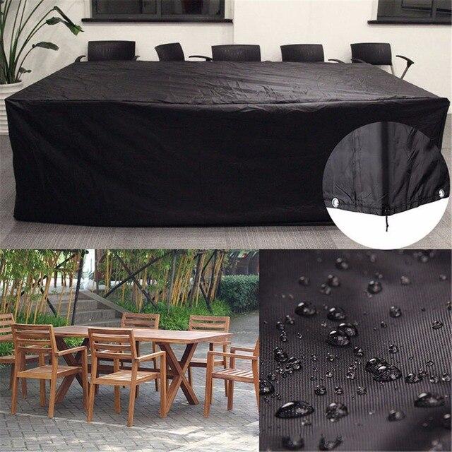Impermeabile Patio Esterno Mobili Da Giardino Pioggia Neve sedia Nero copre per