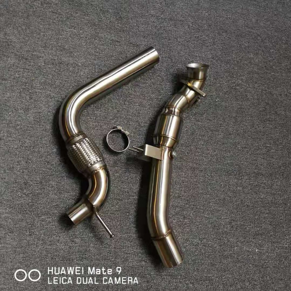3inch downpipe with 200cell cat for ford mustang 2.3t|Exhaust Headers| |  - title=