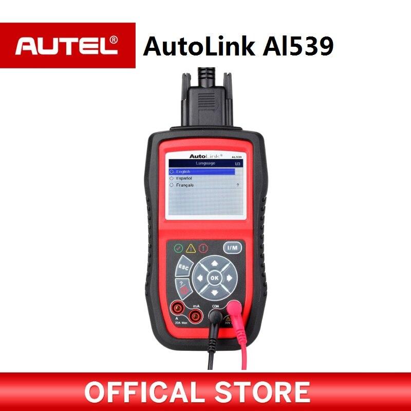 Autel AutoLink AL539 obd2 scan tool MIL OBDII Scanner Tool Vehicle Diagnostic Code Scanner 2 8 lcd car vehicle diagnostic tool scanner red