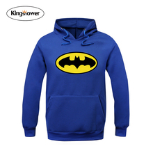 2016 Autumn Winter Men Sweatshirt Long Sleeve Batman Printed Hoodies Svitshot Men's Fashion Clothing with Hooded for Men JA7029