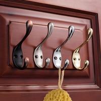 4 Pcs Set Hooks Zinc Alloy Vintage Bathroom Door Bathroom Kitchen Wall Holder Hanger Wall Hats