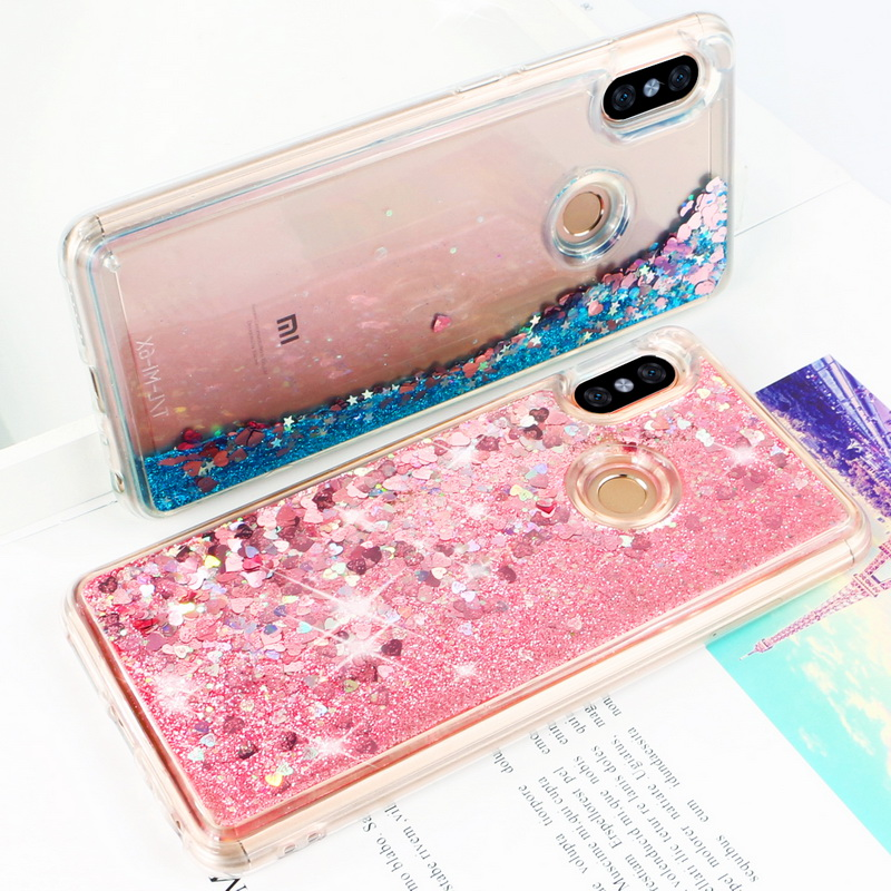 Case For Xiaomi A1 A2 Lite Redmi 4x 5a Note4 4x 5 S2 6 Capa Luxury Cute Heart-shaped Quicksand Soft Coque Phone Case Fundas Half-wrapped Case Cellphones & Telecommunications