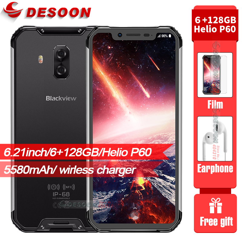 Blackview BV9600 pro Rugged IP68 Waterproof mobile phone 6.21 Face ID Smartphone 6GB RAM 128GB ROM 5580mAh 16MP Dual Cams NFC