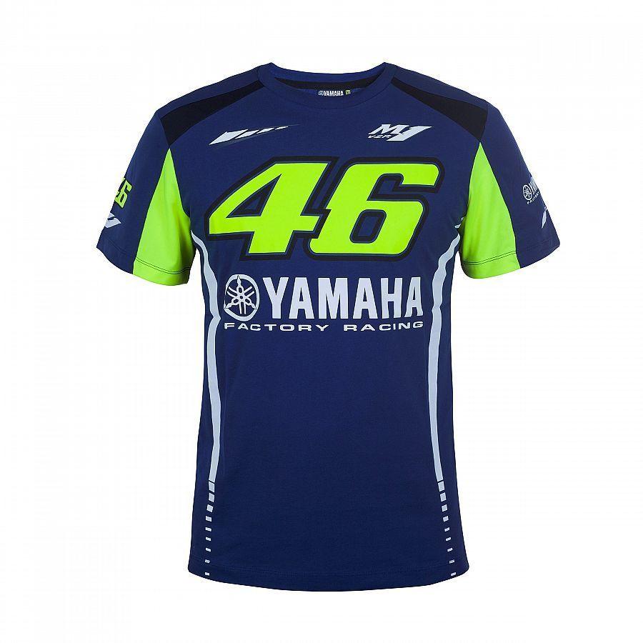 Prix pour 2017 100% Polyester MOTOGP Le Médecin T-shirts Valentino Rossi VR46 pour Yamaha Racing Bleu MotoGP Hommes de T-Shirt