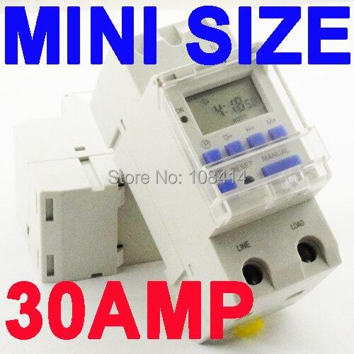 SINOTIMER 30AMP High LOAD 220 V 7 Tage Digitale Programmierbare ZEITSCHALTUHR Relais Zeitsteuerung für AUF/AUS in einen Voreingestellten Zeit