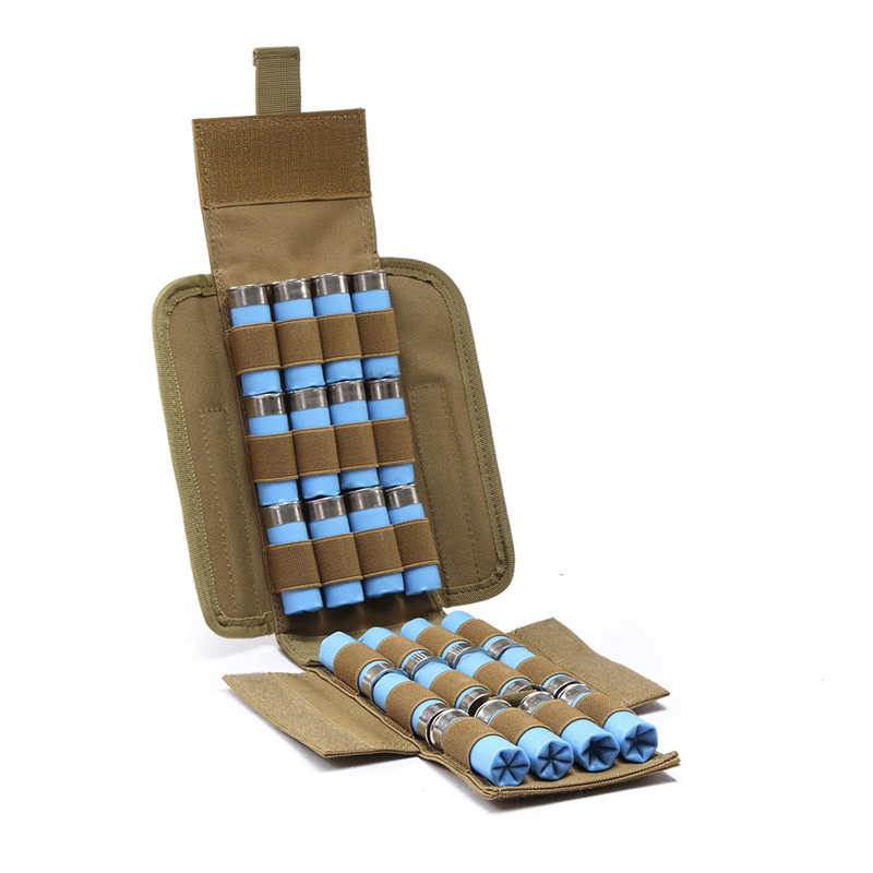 Waterproof Anti-corrosion 25 Round 12GA 12 Gauge Bullets Package Hunting Shells Package CS Field Portable Outdoor Bullet Bags