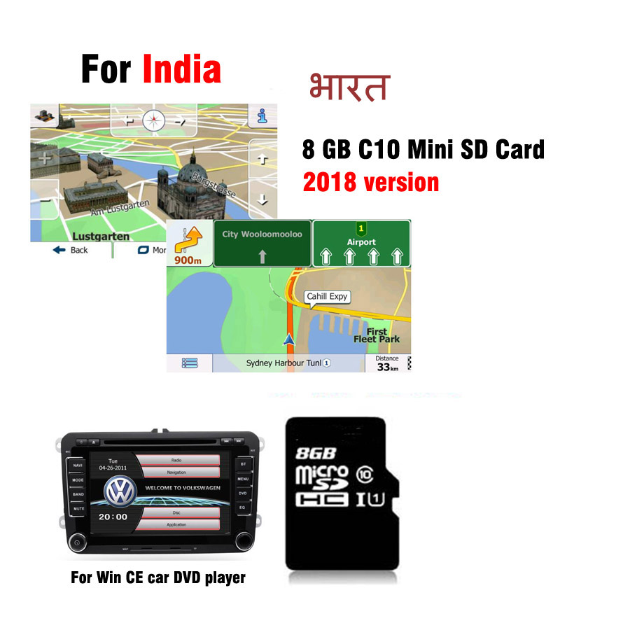 US $25 2 |2018 GPS Map card for WinCE car dvd navigation car radio stereo  for India-in GPS Accessories from Automobiles & Motorcycles on