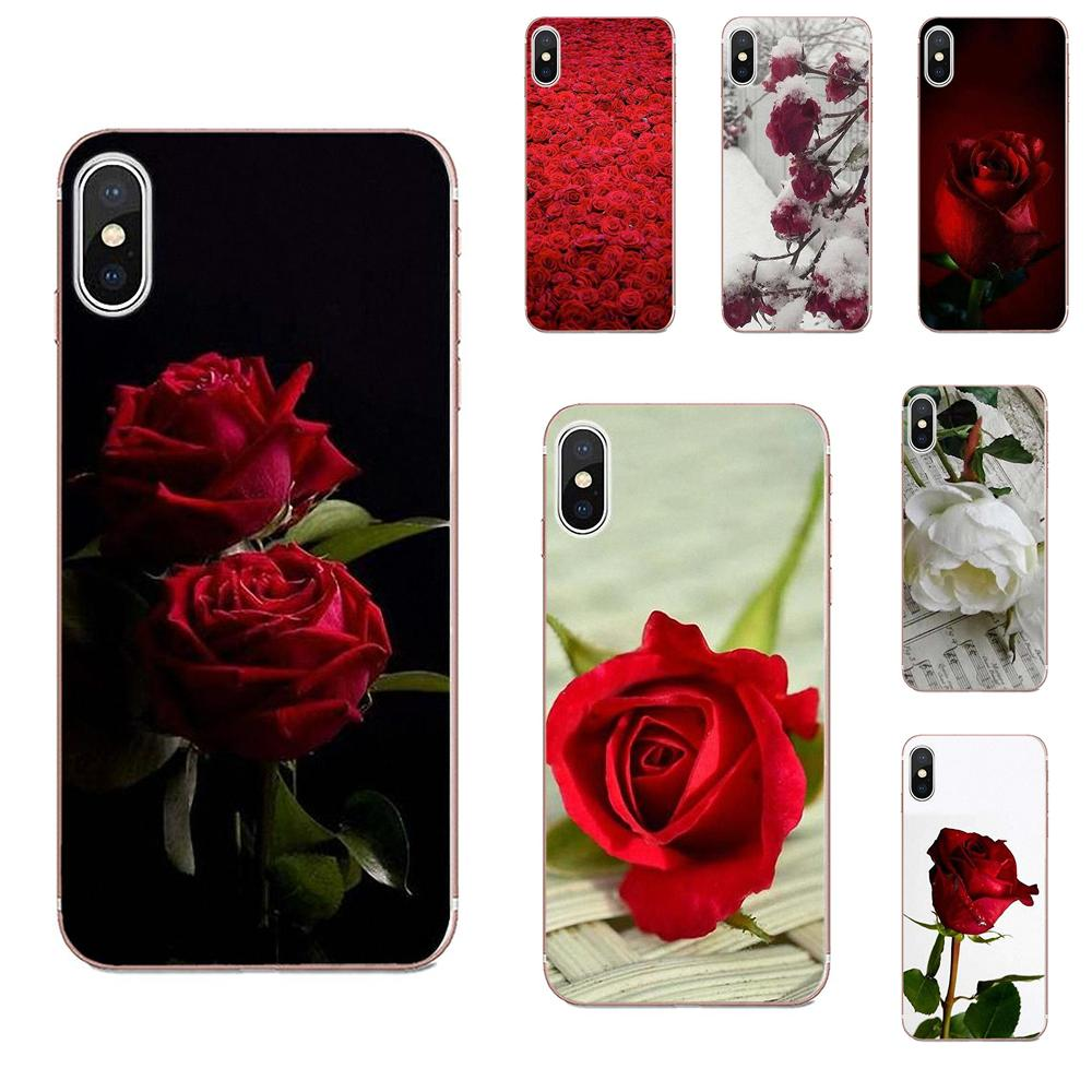 Soft TPU Phone <font><b>Capa</b></font> For Galaxy J1 J2 J3 J330 J4 J5 J6 J7 J730 J8 2015 <font><b>2016</b></font> 2017 2018 mini Pro Beautiful Garden Red Roses Flowers image