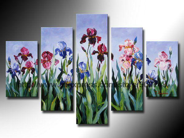 The Flowers Open To Open Canvas Painting Ideas Realistic Abstract Painting Bathroom Background Abstract Oil Paintings