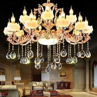 SHIXNIMAO light Crystal Luxury Simulated Jade LED Crystal Chandeliers Lighting Fixtures Crystal Chandelier