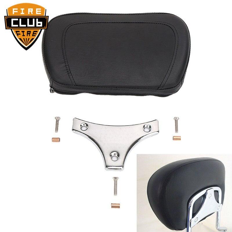 Sissy Bar Detachable Passenger Backrest Pad Models Black&Chrome Motorcycle For Harley Touring FLHRC FLHR FLHX 1997-14 15 16 17