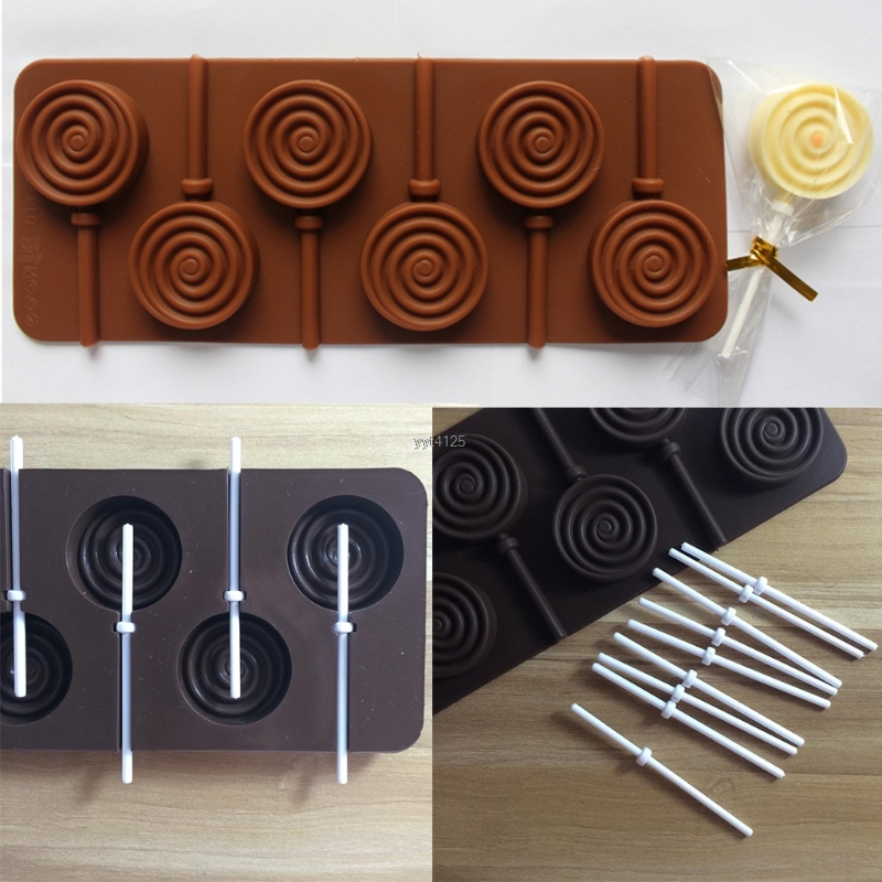 12Pcs Lollipop Sticks For Candy Pops Chocolate Lollies Lolly Homemade Sweets Mar