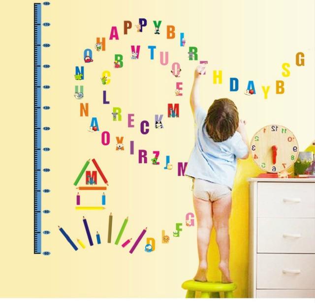 Cartoon Creative safe wallpaper English Alphabet Kindergarten ...