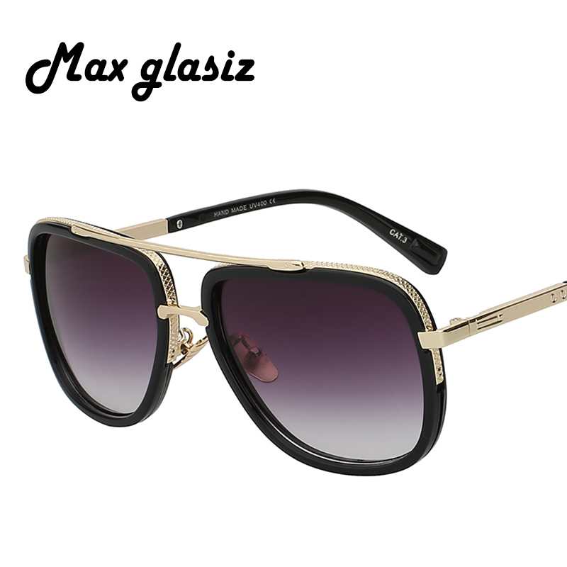 Fashion Sunglasses Men Brand Designer Gold Frame Sunglasses Men Square Shaped Retro Male Women Eyewear Oculos De Sol Masculino