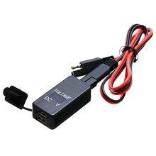 Mayitr 1 pc SAE USB kablosu Adaptör Su Geçirmez Kapak Için çift usb şarj Hızlı 4.2A Port Için Motosiklet Cep Telefonu Tablet GPS