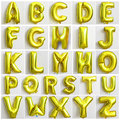 Hot sale Party decoration Alphabet Letter foil baloons 16inch aluminum balloon free shipping Cute Gold Balloon