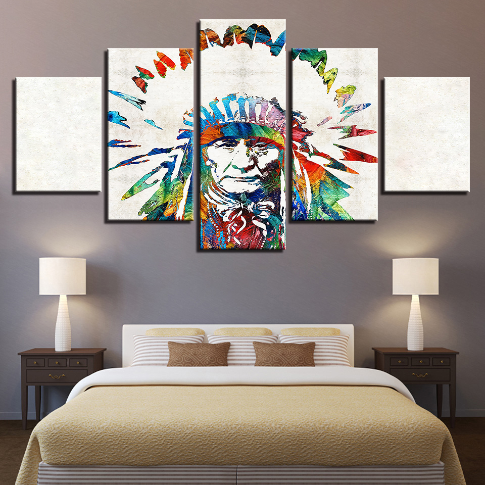Native American Home Decor: Canvas HD Prints Paintings Home Decor For Living Room 5