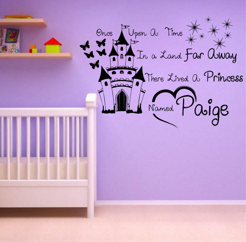 Customer Made Personalized Princess Once Free Squeegee Wall Art