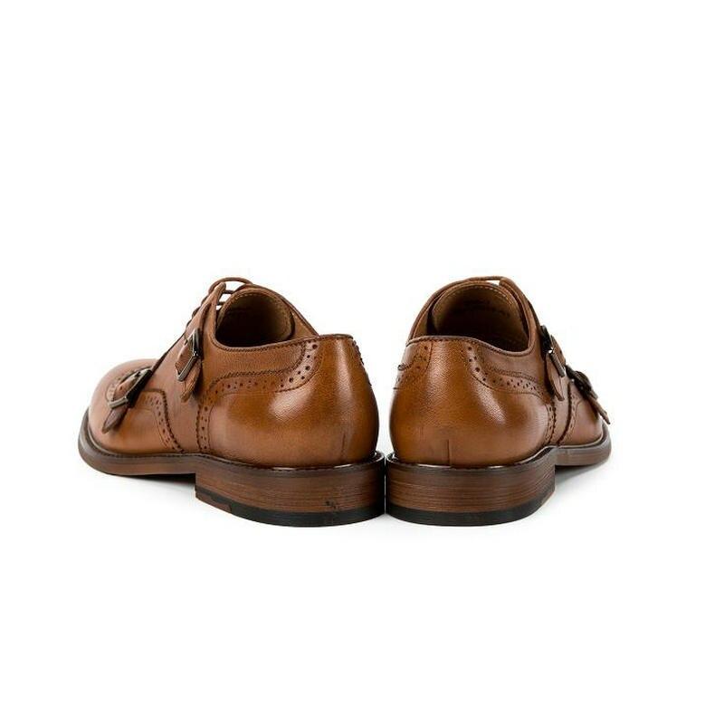 Oxfords Brogue Runden Kopf Marke Männer Krusdan Und Ochsen Echtem Weise Mens coffee Art Handmade Dress Schuhe Schnalle Winter Leder Brown Tx1Fzx6wqn