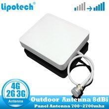 8dbi 700 2700 Mhz 2G 3G 4G na zewnątrz antena panelowa GSM CDMA WCDMA UMTS Repeater antenowy LTE wzmacniacz/wzmacniacz anteny zewnętrznej